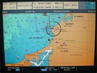 After spending some time getting the AIS system installed and networked, I turned on the chartplotter and, as one can see, the AIS display is working.