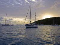 Jost van Dyke sunset
