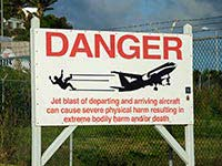St. Martin airport sign