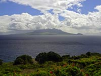 St. Kitts seen from Statia