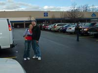 Bernd and Carmen in front of Sam's Club