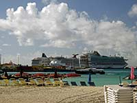 Cruiseships in Philipsburg