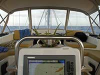 Approaching St. Martin on passage