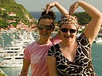 Desi and Agathe above Gustavia