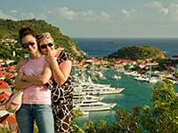 Desi and Agathe on St. Barths