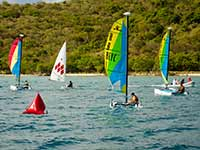 BEYC little catamaran race off Prickly Pear