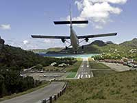 Landing at St. Barths