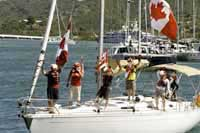 Heineken Regatta 2014 - Canadians showing off