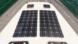 Completed solar panel installation