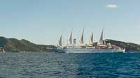 Wind Surf sailing off Tortola