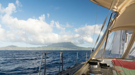Approaching Nevis