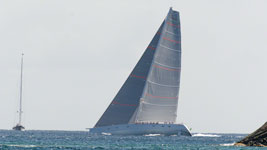 Megayacht racing in the Bucket