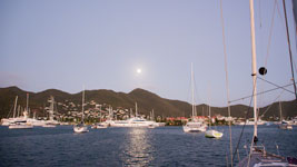 Full moon rising over St. Martin