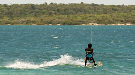 Kitesurfer off Green Island in Antigua