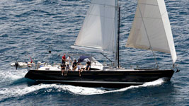 Mustique finishing Guadeloupe to Antigua Race