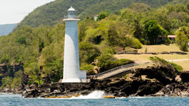 Vieux Fort Lighthouse on Guadeloupe
