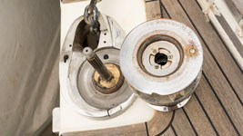 Repairing the windlass chain counter