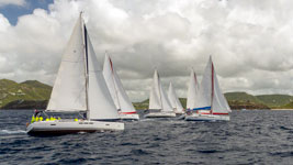 Busy bareboat start