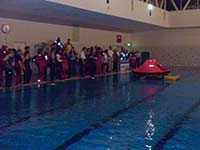 ISAF Course opening liferaft