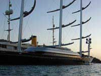 Maltese Falcon at the dock