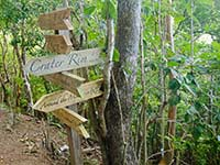 Signpost on the way to the Quill, Statia