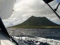 "Statia's ""Quill"" from the water"