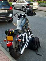 Street Bob just prior to departure